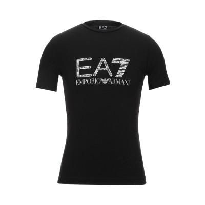 EA7 T シャツ ブラック XXS コットン 95% / ポリウレタン 5% T シャツ