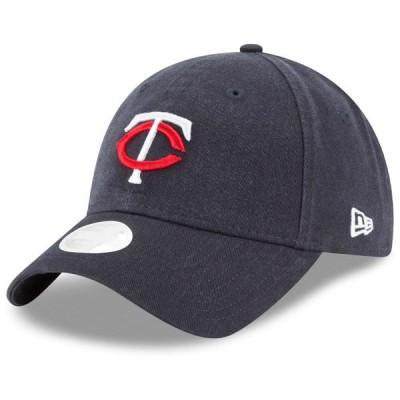 ニューエラ 帽子 アクセサリー レディース Minnesota Twins New Era Women's Core Classic Twill Team Color 9TWENTY Adjustable Hat Navy