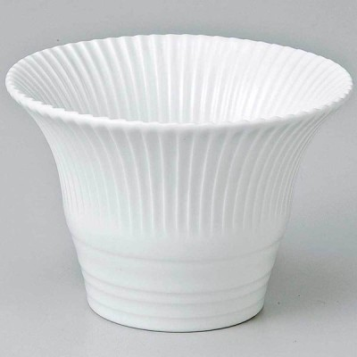 和食器 小鉢 小付/ 白釉菊形仲付 /珍味鉢 陶器 業務用 家庭用 Small sized Bowl