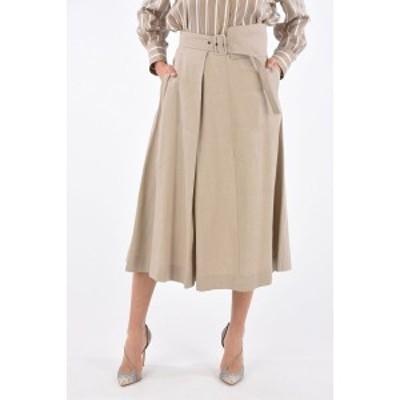 FABIANA FILIPPI/ファビアナ フィリッピ Beige レディース Jetted Pocket Draped Skirt with Belt dk