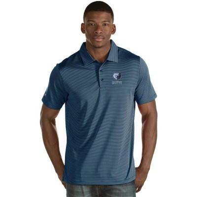 アンティグア ポロシャツ トップス メンズ Antigua Men's Memphis Grizzlies Quest Polo Shirt Navy/White