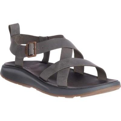 チャコ メンズ サンダル シューズ Wayfarer Leather Sandal Gray Full Grain Leather