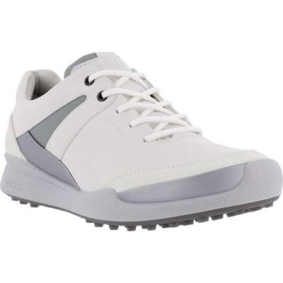 エコー スニーカー シューズ レディース Biom Hybrid 1 Golf Shoe (Women's) White/Silver Metallic/White Yak Leather/Synthetic