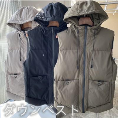 ジャケット 通勤 メンズダウンベスト 大きいサイズ 任意の組み合わせ 厚手のデザイン 磨耗に耐える 秋冬ジャケット