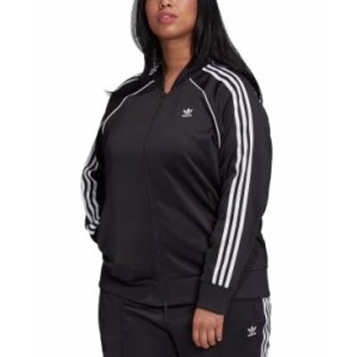 アディダス レディース ジャケット・ブルゾン アウター Plus Size Track Jacket Black/White