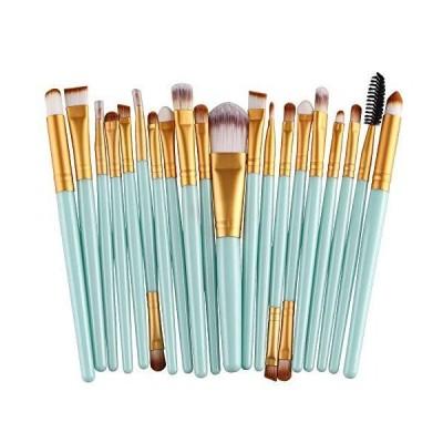 【並行輸入品】(Gold) - Cinidy 20 pcs Makeup Brush Set tools Make-up Toiletry Kit W