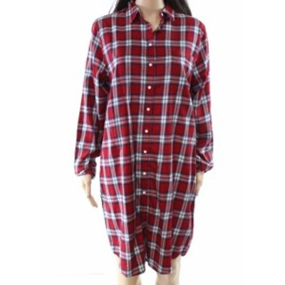 DL1961  ファッション ドレス DL1961 Womens Dress Red Size Small S Shirt Button Front Plaid Collared