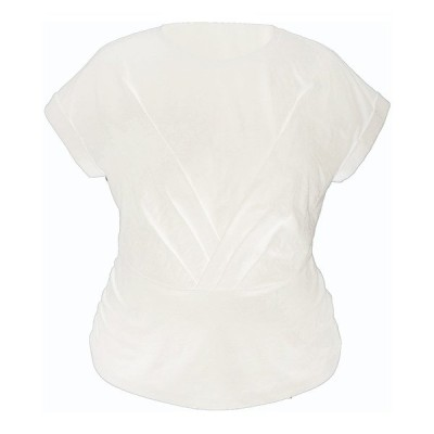 アイエヌシーインターナショナルコンセプト カットソー トップス レディース INC Plus Size Pleated Front Top, Created for Macy's Bright White