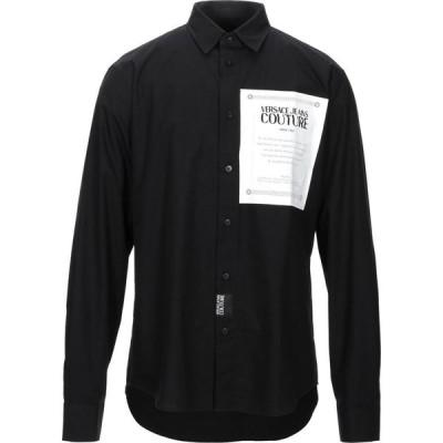 ヴェルサーチ VERSACE JEANS COUTURE メンズ シャツ トップス Solid Color Shirt Black