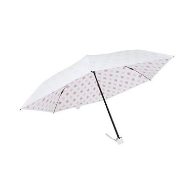 UVION ユヴィオン 晴雨兼用 軽量 折り畳み傘 日傘 プレミアムホワイト 50cm [ニューアラベスク ピンク 桃 6本骨] 雨