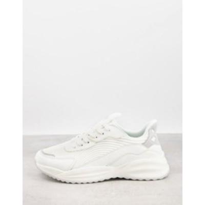 エイソス メンズ スニーカー シューズ ASOS DESIGN multi panel sneakers in white White
