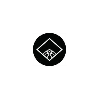 家紋シール 細菱に覗き落ち牡丹紋 直径4cm 丸型 白紋 4枚セット KS44M-1274W