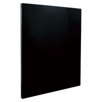 セキセイ クリヤーファイル高透明A4S20ポケット KP-2512-60 ブラック 00020842【まとめ買い5冊セット】