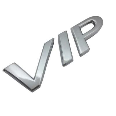 VIP Car ビップ カー ヴイ アイ ピー 金属 クローム メッキ エンブレム ドレスアップ ステッカー シール