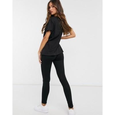 ファム ルクス レディース Tシャツ トップス Femme Luxe t shirt and legging set in black BLACK