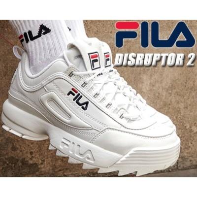 FILA DISRUPTOR 2 white フィラ ディスラプター 2 DAD SHOE ダッド シューズ 厚底 スニーカー メンズ レディース ウィメンズ ホワイト 白 ガールズ