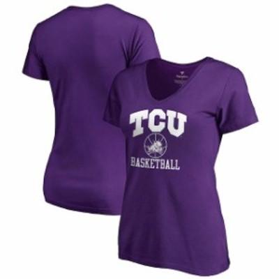 Fanatics Branded ファナティクス ブランド スポーツ用品  Fanatics Branded TCU Horned Frogs Womens Purple In Bounds V-Neck T-Shirt