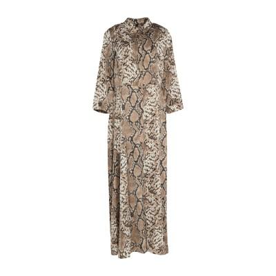 Y.A.S. ロングワンピース&ドレス ベージュ XS ポリエステル 100% ロングワンピース&ドレス