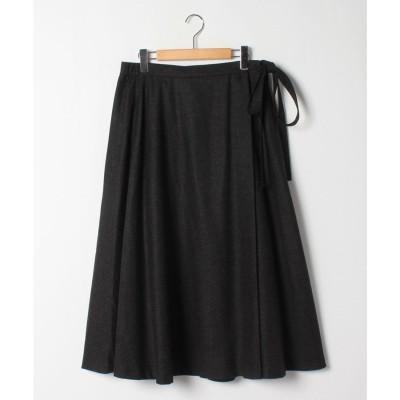 Giornea 【特別提供価格】ロング丈ラップスカート(チャコール)