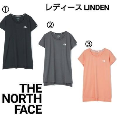 ノースフェイス LINDEN ロゴ Tシャツ ピンク グレー 黒 レディース NT7UM31 THE NORTH FACE