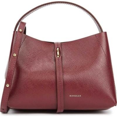ワンダラー Wandler レディース ハンドバッグ バッグ Ava Micro Burgundy Leather Top Handle Bag Red