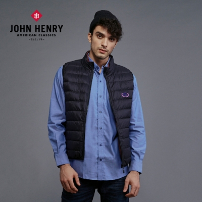 【JOHN HENRY】雙面穿立領羽絨背心-兩色選