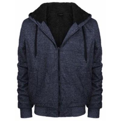 ファッション トップス Mens Premium Athletic Soft Sherpa Lined Fleece Zip Up Hoodie Sweater Jacket