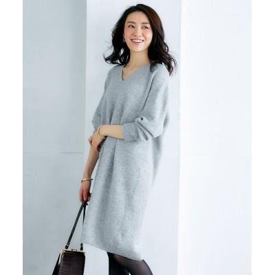【Hana服】ホールガーメント®縫い目のないウール混ニットワンピース (ワンピース)Dress