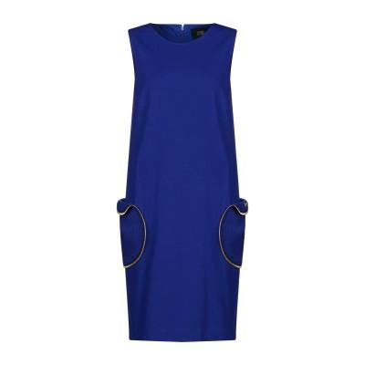 クラス ロベルト カヴァリ CAVALLI CLASS ミニワンピース&ドレス ブルー 42 レーヨン 69% / ナイロン 25% / ポリウレタ