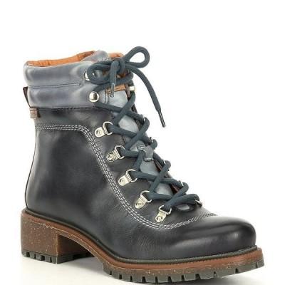 ピコリーノス レディース ブーツ&レインブーツ シューズ Aspe Lace-Up Block Heel Lug Sole Hiker Boots Moon Ocean