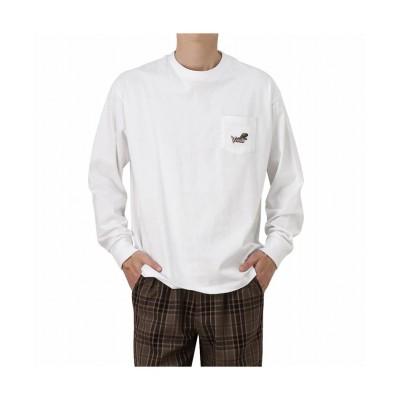 【マックハウス】 VISION STREET WEAR ヴィジョンストリートウェア 恐竜ポケロングスリーブTシャツ 1305007Z メンズ ホワイト XL MAC HOUSE