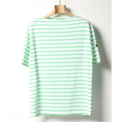 エディフィス SAINT JAMES / セント ジェームス PIRIAC ボーダーTシャツ グリーン S