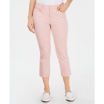 チャータークラブ レディース デニムパンツ ボトムス Tummy-Control Bristol Capri Jeans, Created for Macy's Misty Pink