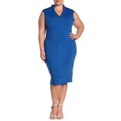 アレクシアアドマー レディース ワンピース トップス Katrina V-Neck Midi Dress (Plus Size) COBALT