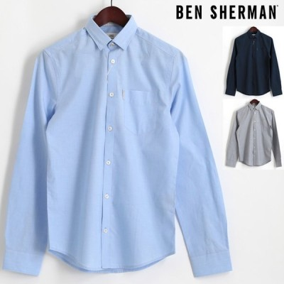 ベンシャーマン Ben Sherman 長袖シャツ プレーン ビジネス フォーマル エンドオンエンド 3色