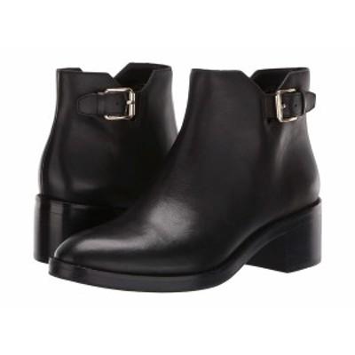 コールハーン レディース ブーツ&レインブーツ シューズ Harrington Grand Buckle Bootie Black Leather/Black Stack