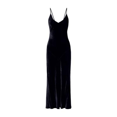 MARISSA WEBB ロングワンピース&ドレス ダークブルー S レーヨン 55% / シルク 45% ロングワンピース&ドレス