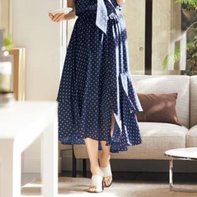 ファッション スカート プリント 柄スカート 幾何学柄プリント イレギュラーヘム スカート 256702
