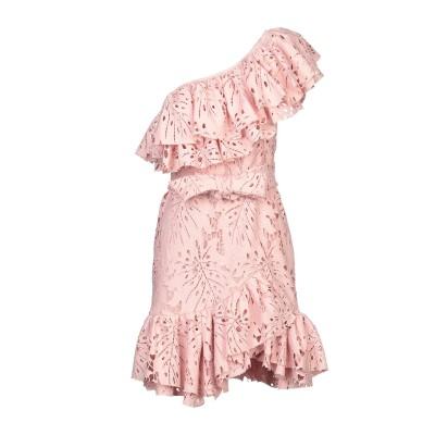 WEILI ZHENG ミニワンピース&ドレス ピンク S ポリエステル 100% ミニワンピース&ドレス