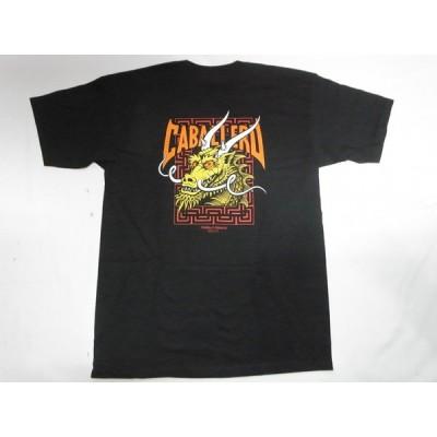 生産終了カラー PERALTA パウエル CABALLERO STREET DRAGON キャバレロストリートドラゴン Tシャツ 黒x黄 ブラック