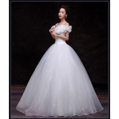 ウェディングドレス > ウェディングドレス ふんわりタイプ060405