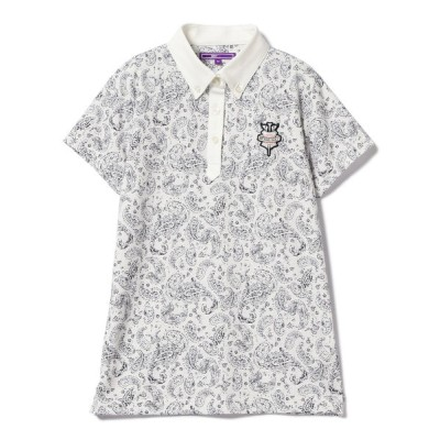 BEAMS WOMEN / BEAMS GOLF PURPLE LABEL / ペイズリー ポロシャツ WOMEN トップス > ポロシャツ