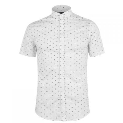 アルマーニ Armani Exchange メンズ シャツ トップス AOP Shirt White