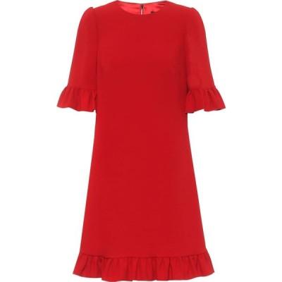 ドルチェ&ガッバーナ Dolce & Gabbana レディース パーティードレス ワンピース・ドレス stretch-crepe minidress Rosso Scurissimo