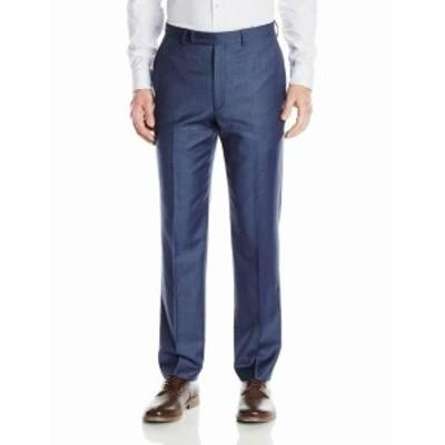 Calvin Klein カルバンクライン ファッション パンツ Calvin Klein Mens Pants Blue Size 42X32 Dress Flat Front Wool Stretch
