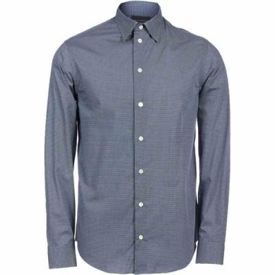 アルマーニ EMPORIO ARMANI メンズ シャツ トップス patterned shirt Blue