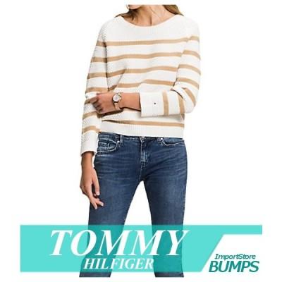 トミーヒルフィガー セーター ニット レディース ウィメンズ 丸首 エッセンシャル リブ タイヘム XS〜XL トップス 新作 TOMMY