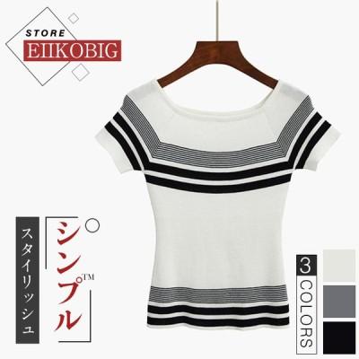 Tシャツ レディース 春 夏 半袖 ブラウス  韓国風  ゆったり 合わせやすい  おしゃれ  トレンド  シャツ トップス 丸首 女性 20代 30代