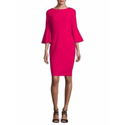 カルバンクライン レディース ワンピース Bell-Sleeve Sheath Dress