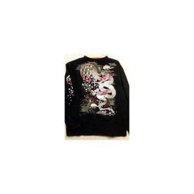 値下げ♪華鳥風月 長袖和柄Tシャツ 龍刺繍